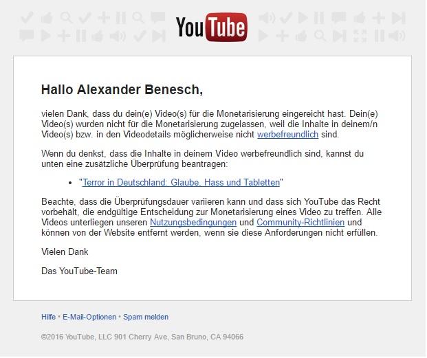 youtube-abgelehnt