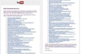 """Massenhafte Einstufung unser Videos durch Youtube als """"nicht werbefreundlich"""""""